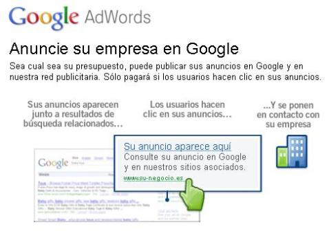Página Web de Google Adwords