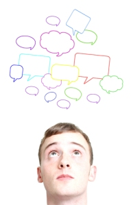 Joven confundido por causa de las Redes Sociales