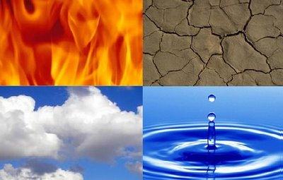 4 elementos agua tierra fuego aire