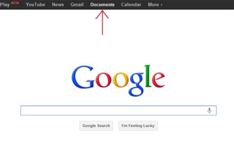 Imagen ingreso a Google Docs