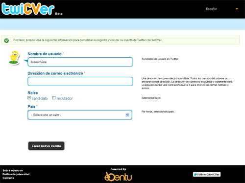Twicver te permite hacer tu CV en tan solo 10 tweets (4/6)
