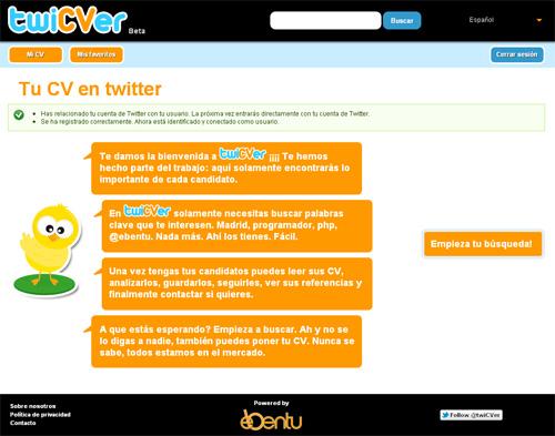 Twicver te permite hacer tu CV en tan solo 10 tweets (5/6)